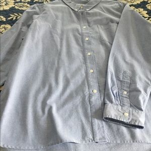 Cotton oxford cloth button down shirt.